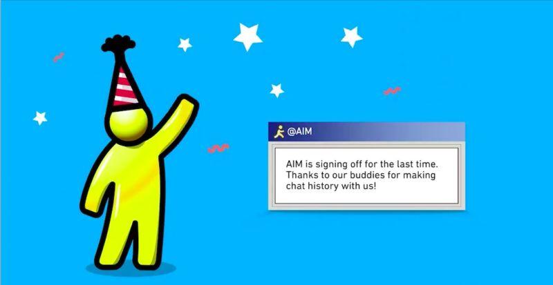 AOL Messenger Veda Ediyor