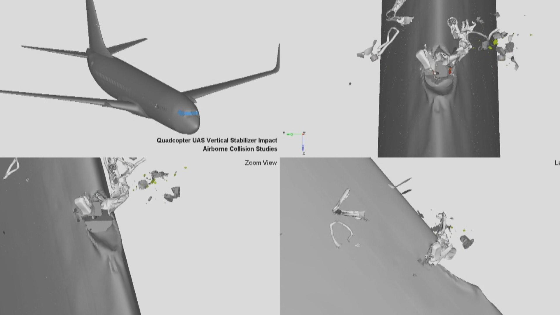 uçak drone çarpışması