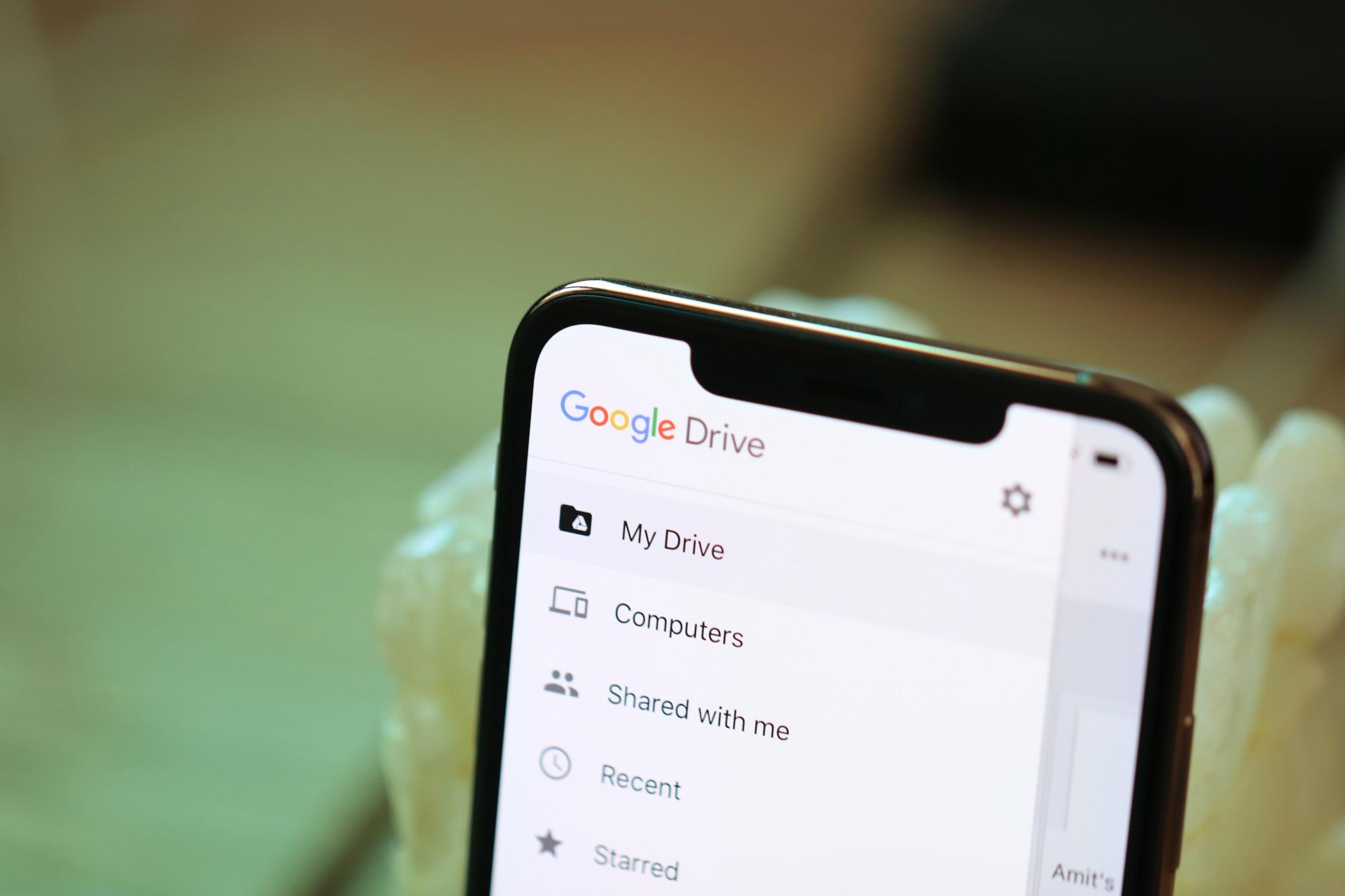 Google Drive'dan isteğe bağlı yedekleme!