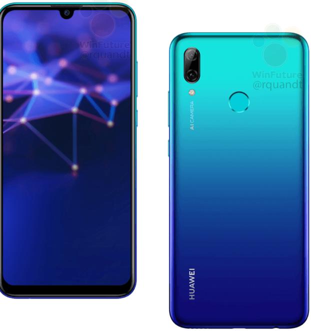 Huawei P Smart 2019 tasarımı
