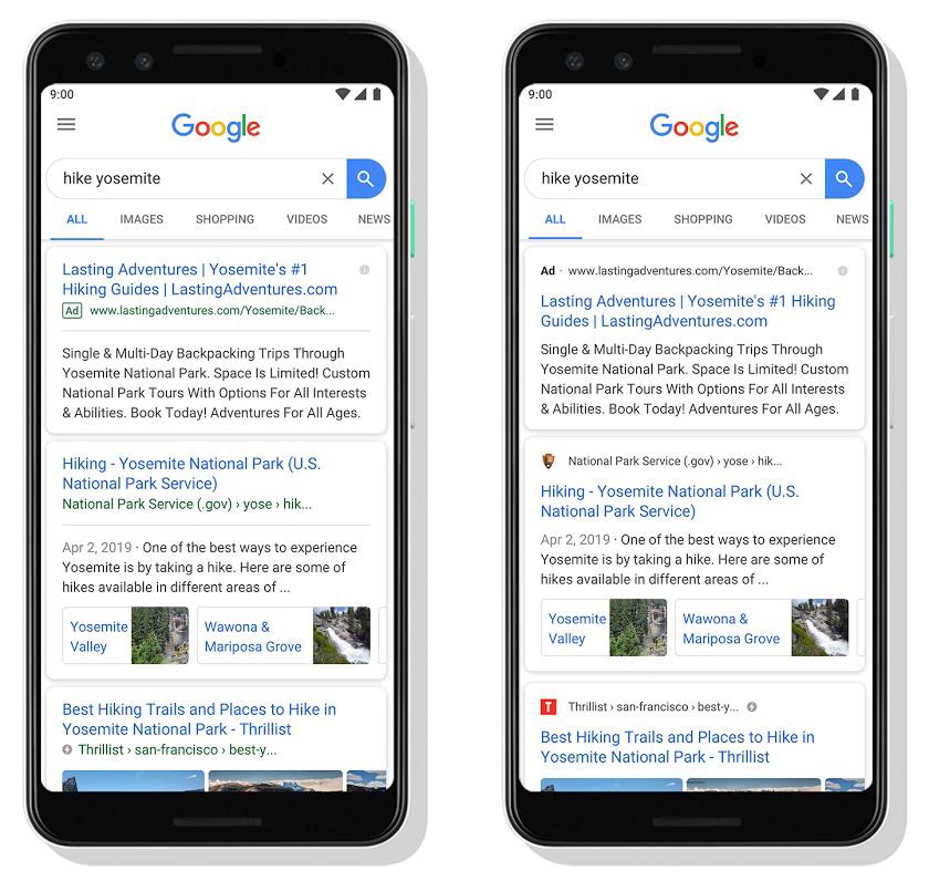 Google Arama mobil cihazlar için yeniden tasarlanıyor