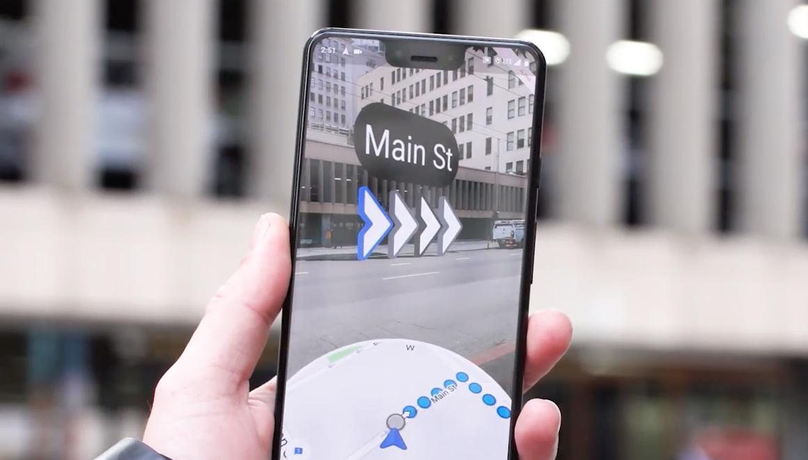 Google Maps AR, Android ve iOS'a geldi