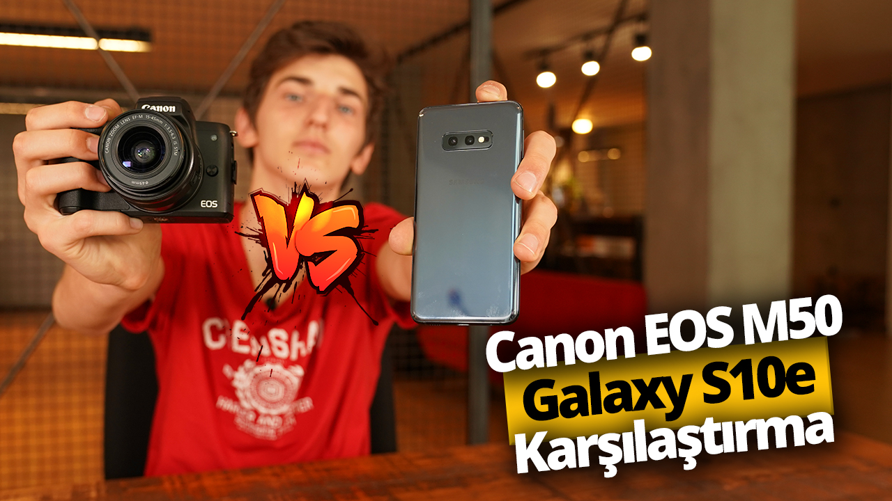 Galaxy S10e vs Canon EOS M50 (Video)