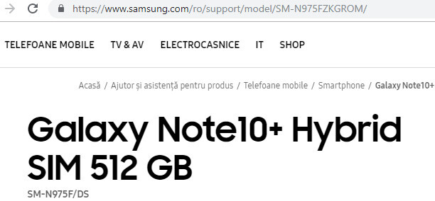 Galaxy Note 10 Plus is shared on the official website of Samsung! - ShiftDelete.Net