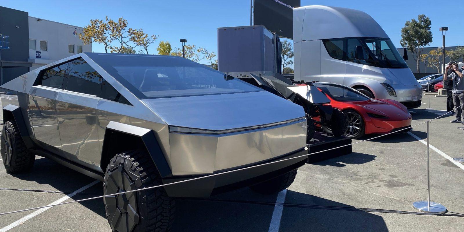 Tesla, tesla cybertruck, tesla atv, tesla semi, tesla roadster